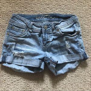 Wallflower   Distressed Jean Shorts, 0
